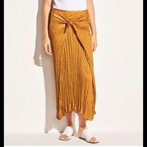 Vince tie front plisse skirt
